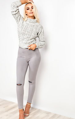 View the Ellis Faux Suede Zip Leggings online at iKrush