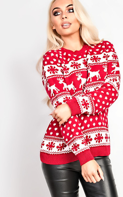View the Dash Oversized Slogan Christmas Jumper online at iKrush
