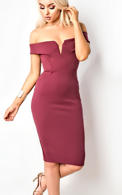 View the Kaidence Off Shoulder Bodycon Dress online at iKrush