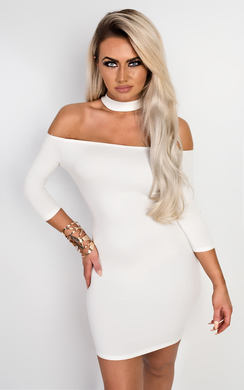 View the Imogen Off Shoulder Bodycon Dress online at iKrush