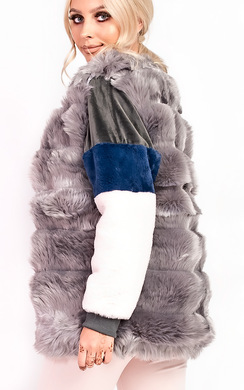 View the Victoria Faux Fur Waistcoat online at iKrush
