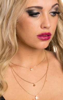 View the Wisteria Three Layer Necklace online at iKrush