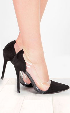View the Alicia Clear Panel Court Heels online at iKrush
