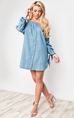 View the Zara Denim Shift Dress online at iKrush