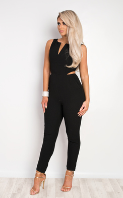 View the Clarabella Cut Out Jumpsuit online at iKrush