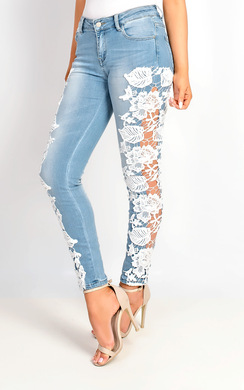 View the Luxy Skinny Lace Jeans online at iKrush