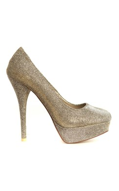 View the Sonia Iridescent Platform Heels in Silver online at iKrush