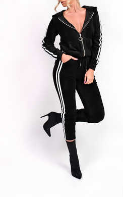 View the Kourt Stripe Velour Tracksuit online at iKrush