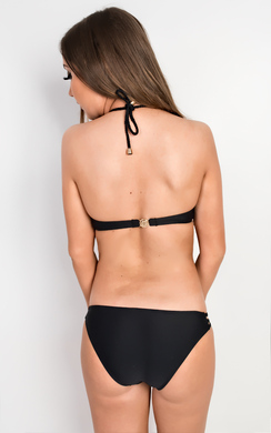 View the Miah  Black Tie Front Bikini online at iKrush