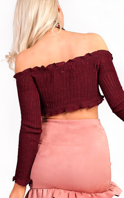 View the Brianna Ribbed Long Sleeved Crop Top online at iKrush
