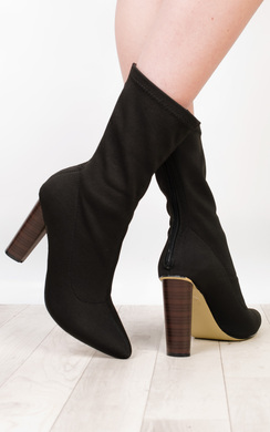 View the Flossie Knit Heeled Boots  online at iKrush