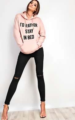 View the Zuri Slogan Oversized Hoodie  online at iKrush