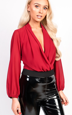 View the Catriona Plunge Cowl Neck Bodysuit online at iKrush