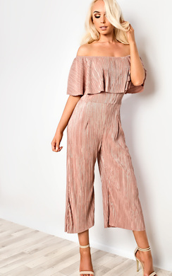 View the Shayla Metallic Ribbed Jumpsuit online at iKrush