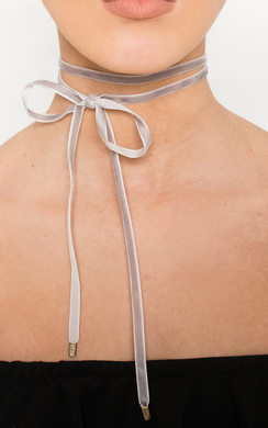 View the Nelly Suede Tie Choker  online at iKrush