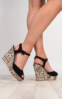 View the Rilo Embroidered Wedges online at iKrush