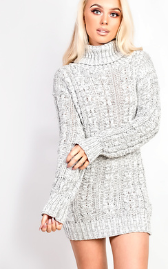 View the Addison High Neck Knit Dress online at iKrush