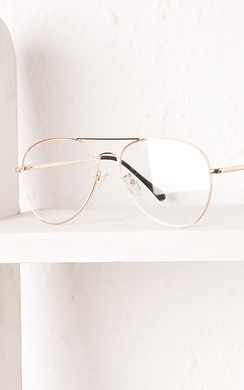 View the Bayliss Clear Lens Aviator Glasses online at iKrush