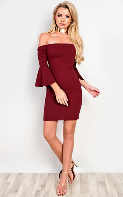 View the Alise Off Shoulder Bodycon Dress online at iKrush