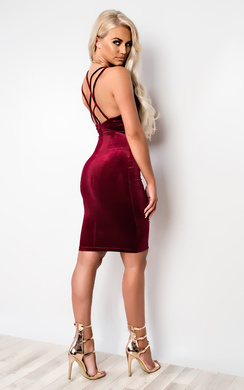 View the Edita Strappy Bodycon Dress online at iKrush