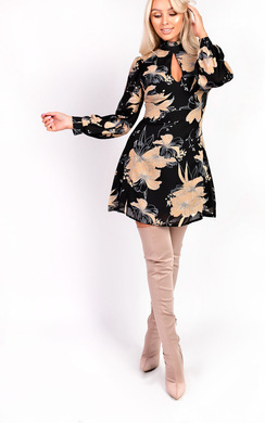 View the Amy High Neck Floral Dress online at iKrush