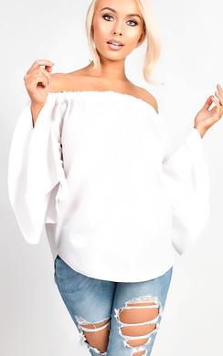 View the GiGi Bardot Bell Sleeve Top  online at iKrush