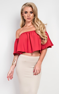 View the Thyra Frill Crop Top online at iKrush