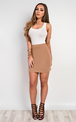 View the Brihanna Basic Mini Skirt online at iKrush