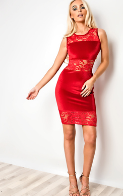 View the Karis Lace Bodycon Dress online at iKrush