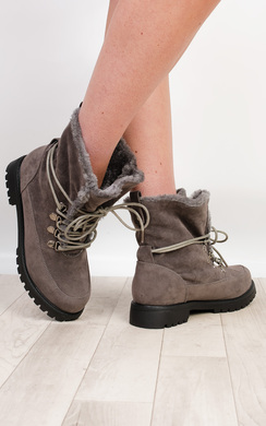 View the Kiana Faux Suede Boots online at iKrush
