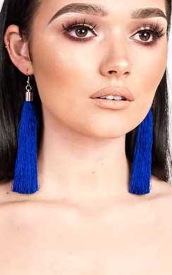 View the Rita Tassel Earrings  online at iKrush