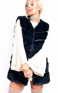 View the Vanessa Faux Fur Waistcoat online at iKrush