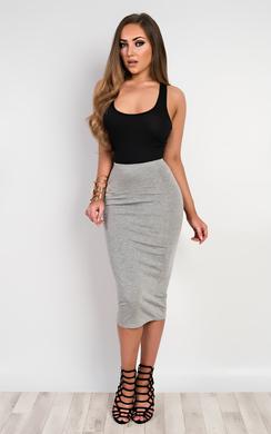 View the Elisheva Basic Midi Skirt online at iKrush