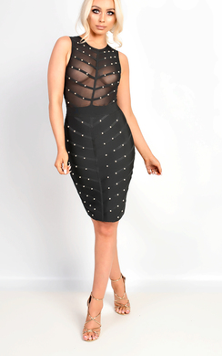 View the Nila Studded Bandage Dress online at iKrush