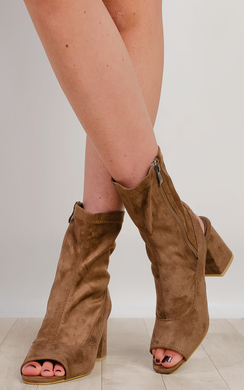 View the Miley Peep Toe Ankle Boots  online at iKrush