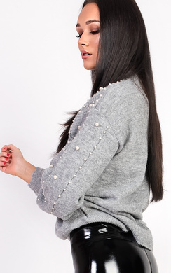 View the Leela Beaded Knitted Jumper online at iKrush