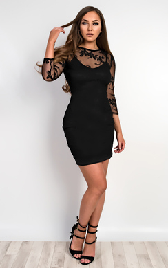 View the Melanie Lace Bodycon Dress online at iKrush
