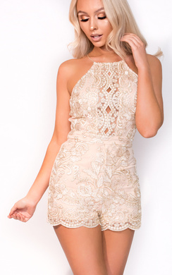 View the Isla Mesh Lace Playsuit online at iKrush