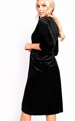 View the Serena Wrap Velvet Bodycon Dress online at iKrush