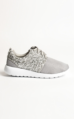 View the Alayna Glitter Detail Trainers online at iKrush