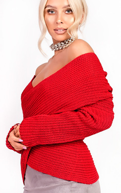 View the Josie Wrap Knit Jumper online at iKrush