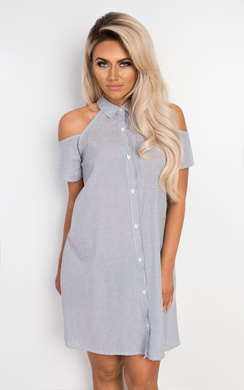 View the Adal Striped Collared Dress online at iKrush