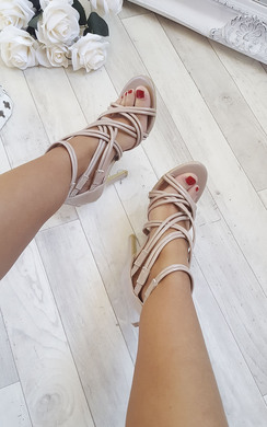 View the Genevieve Strappy Patent High Heels  online at iKrush