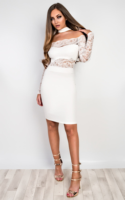 View the Ashford Lace Bodycon Dress online at iKrush
