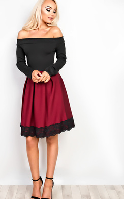 View the Caitlin Off Shoulder Skater Dress online at iKrush