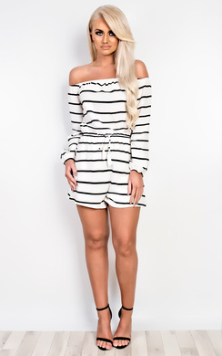 View the Jess Off Shoulder Playsuit online at iKrush