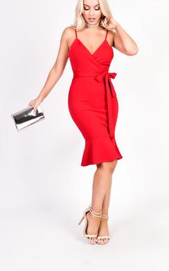 View the Lolita Bodycon Frill Midi Dress  online at iKrush