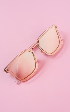View the Livina Reflective Gold Sunglasses online at iKrush