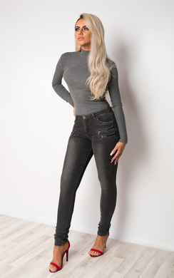 View the Dorete Zip Detail Skinny Jeans online at iKrush