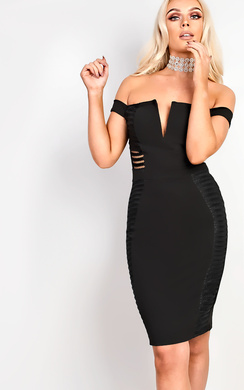 View the Zara Off Shoulder Bodycon Dress online at iKrush